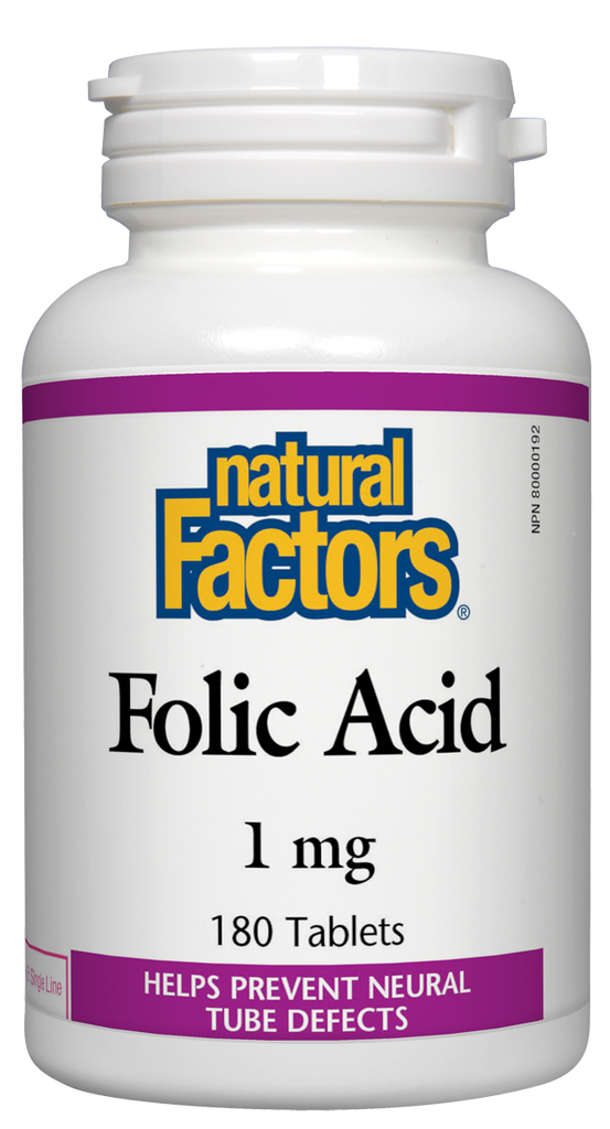 NATURAL FACTORS FOLIC ACID 180TABS