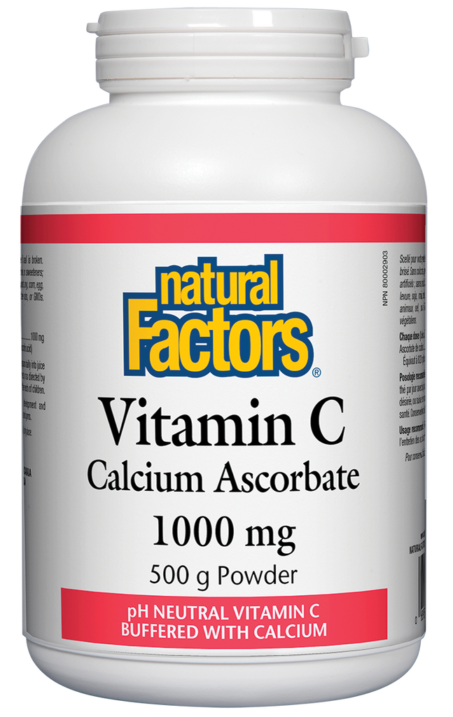 NATURAL FACTORS VITAMIN C WITH CALCIUM 500G
