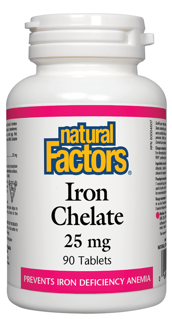 Natural Factors Iron Chelate 90 Tabs