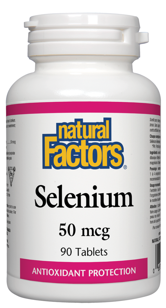 NATURAL FACTORS SELENIUM 50MCG 90TABS