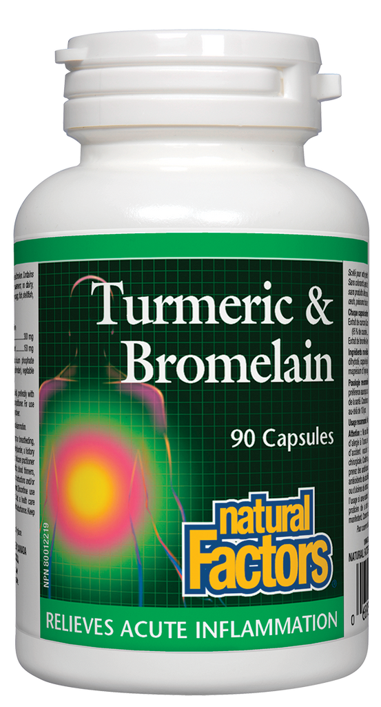 NATURAL FACTORS TURMERIC & BROMELAIN 90CAPS