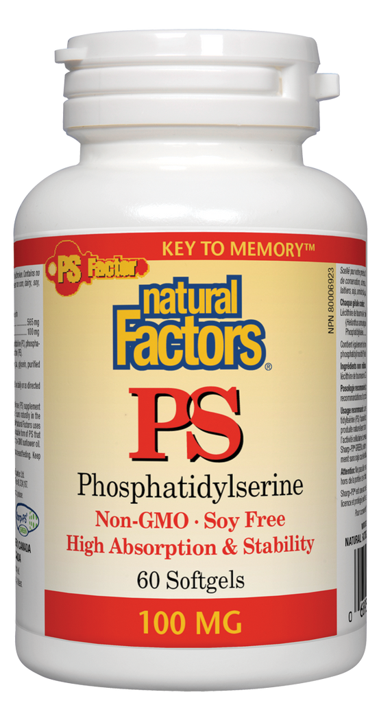 NATURAL FACTORS PS PHOSPHATIDYLSERINE 60SGS