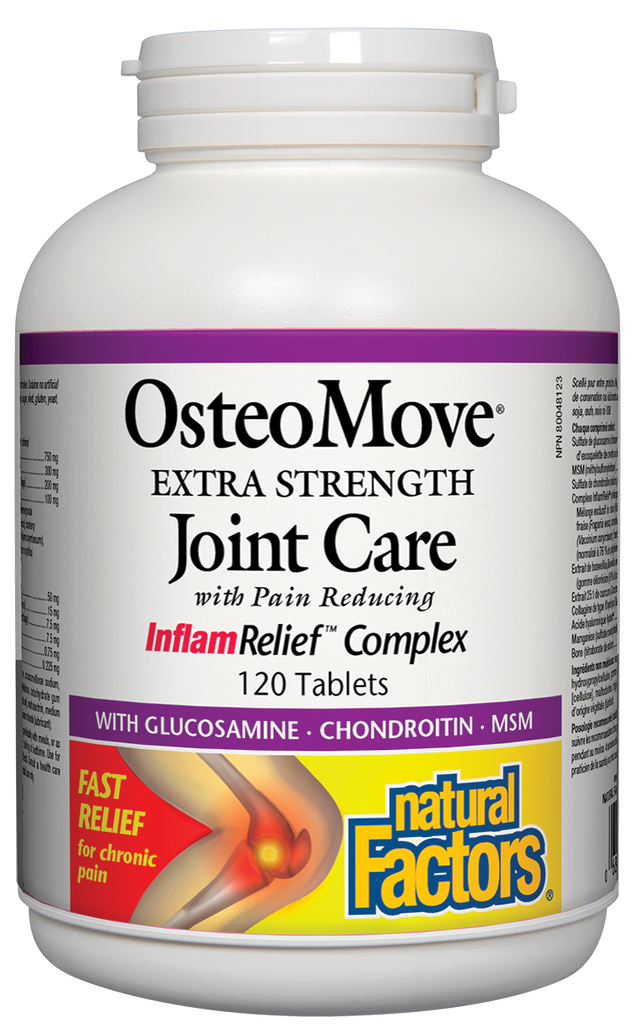 NATURAL FACTORS OSTEOMOVE EXTRA STRENGTH 120TABS