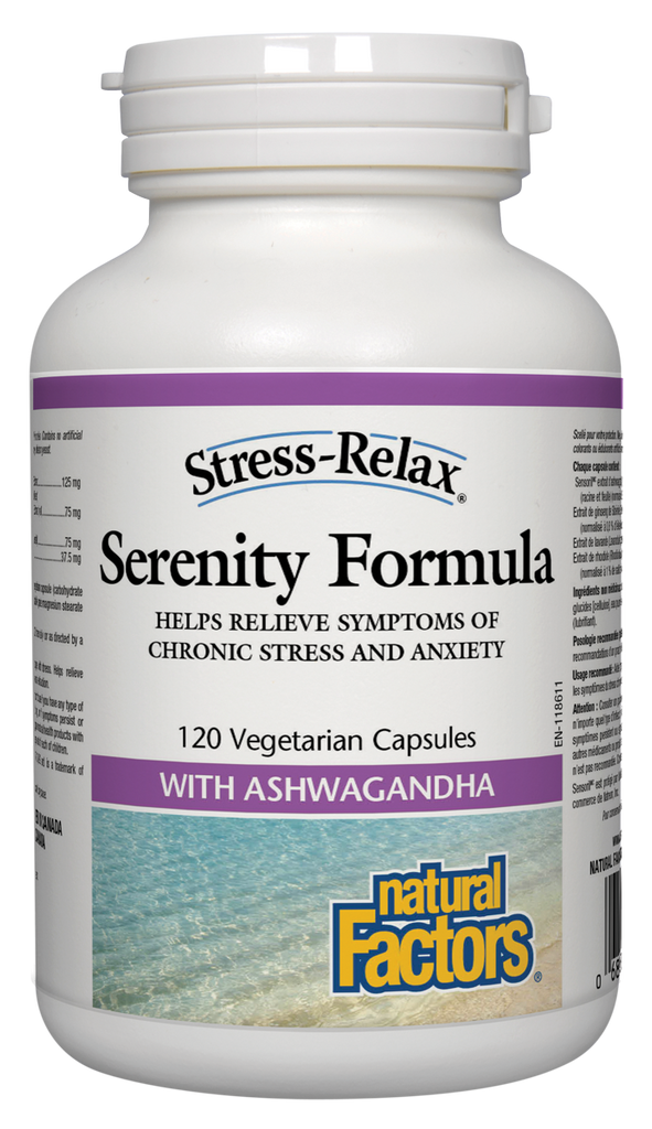 NATURAL FACTORS STRESS-RELAX SERENITY FORMULA 120VCAPS