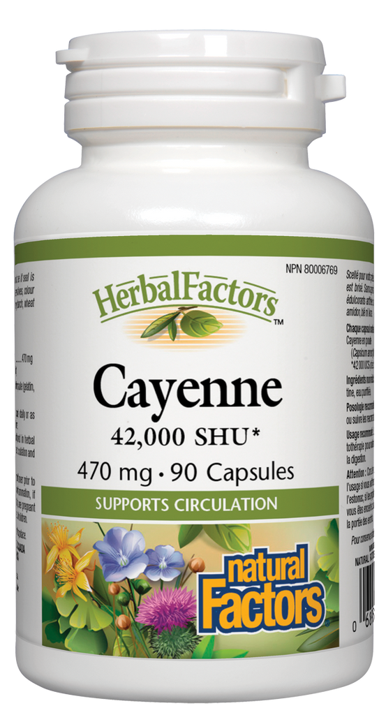 NATURAL FACTORS HERBAL FACTORS CAYENNE 90CAPS