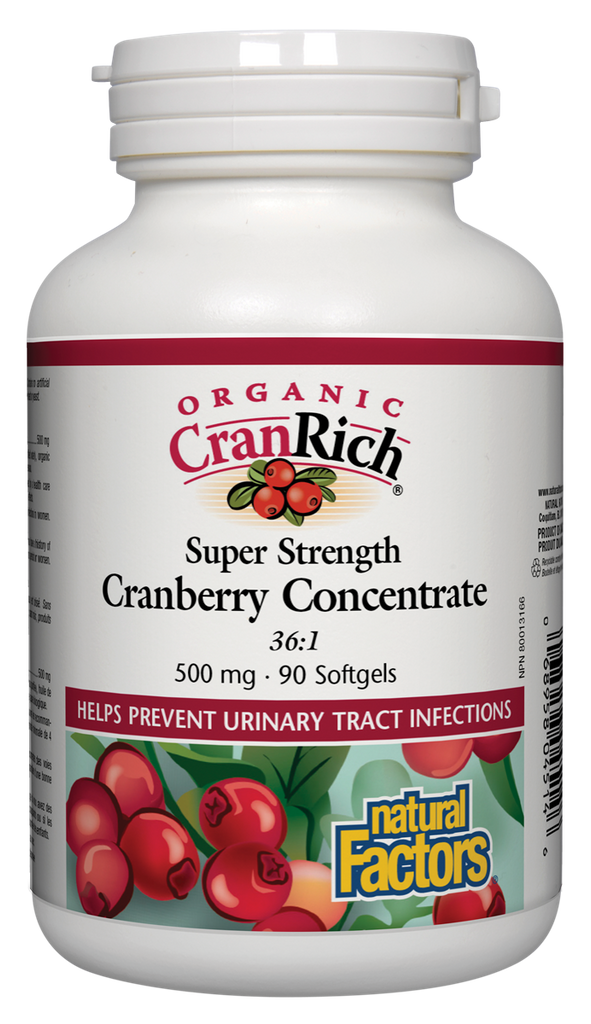 NATURAL FACTORS ORGANIC CRANRICH SUPER STRENGTH 90SGS