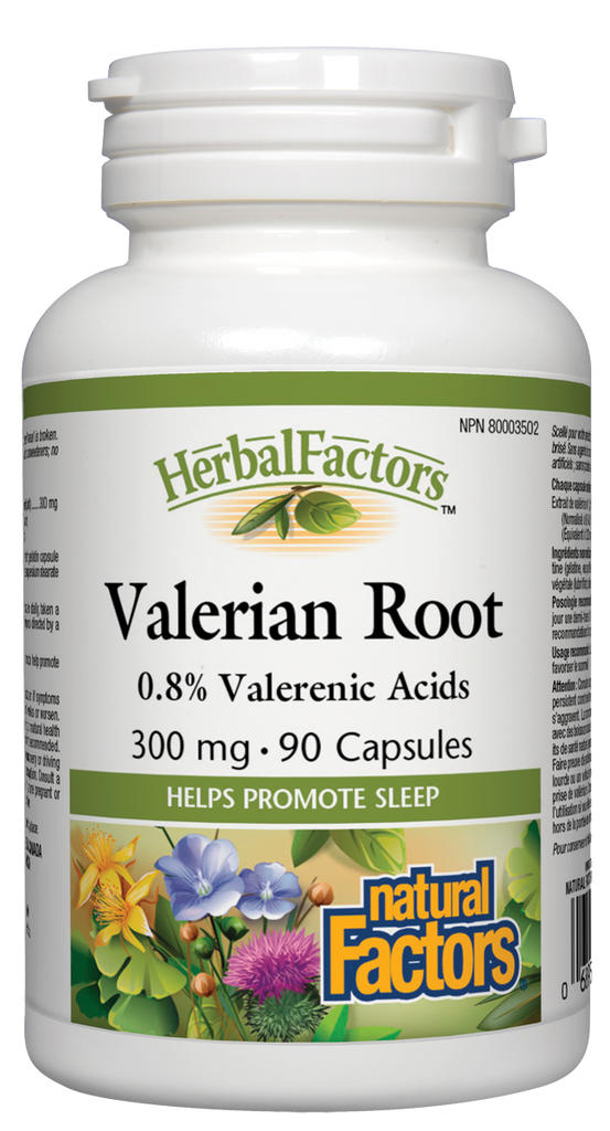 NATURAL FACTORS HERBAL FACTORS VALERIAN ROOT 90CAPS