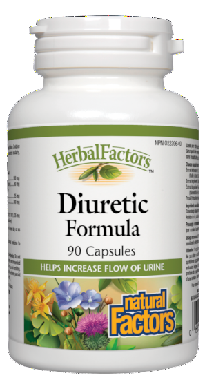 NATURAL FACTORS HERBAL FACTORS DIURETIC FORMULA 90CAPS