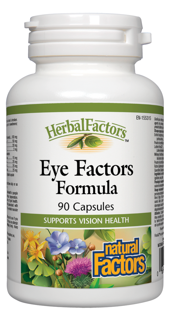 NATURAL FACTORS HERBAL FACTORS EYE FACTORS 90CAPS
