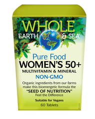 WHOLE EARTH & SEA WOMEN'S 50+ MULTIVITAMIN & MINERAL 60TABS
