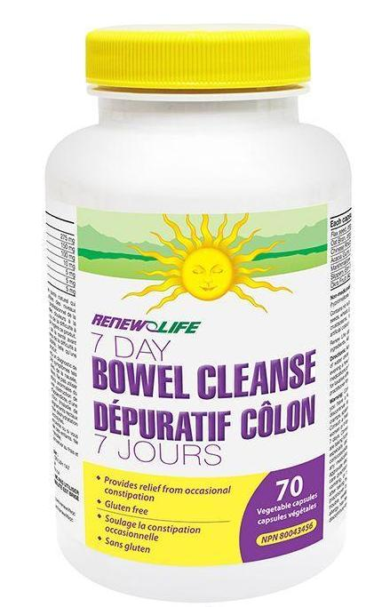 RENEW LIFE 7 DAY BOWEL CLEANSE 70VCAPS
