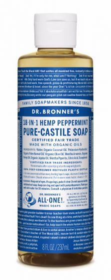 DR. BRONNER'S CASTILE SOAP PEPPERMINT 237ML