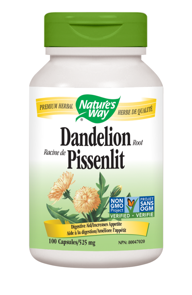 NATURE'S WAY DANDELION ROOT 100VCAPS