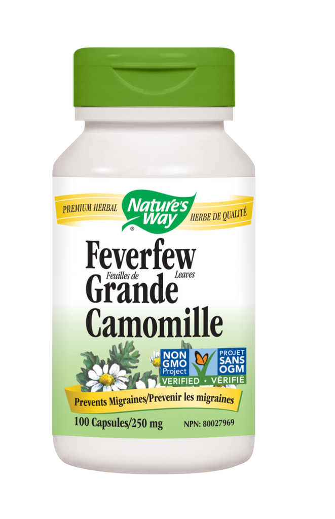 NATURE'S WAY FEVERFEW LEAVES 100VCAPS