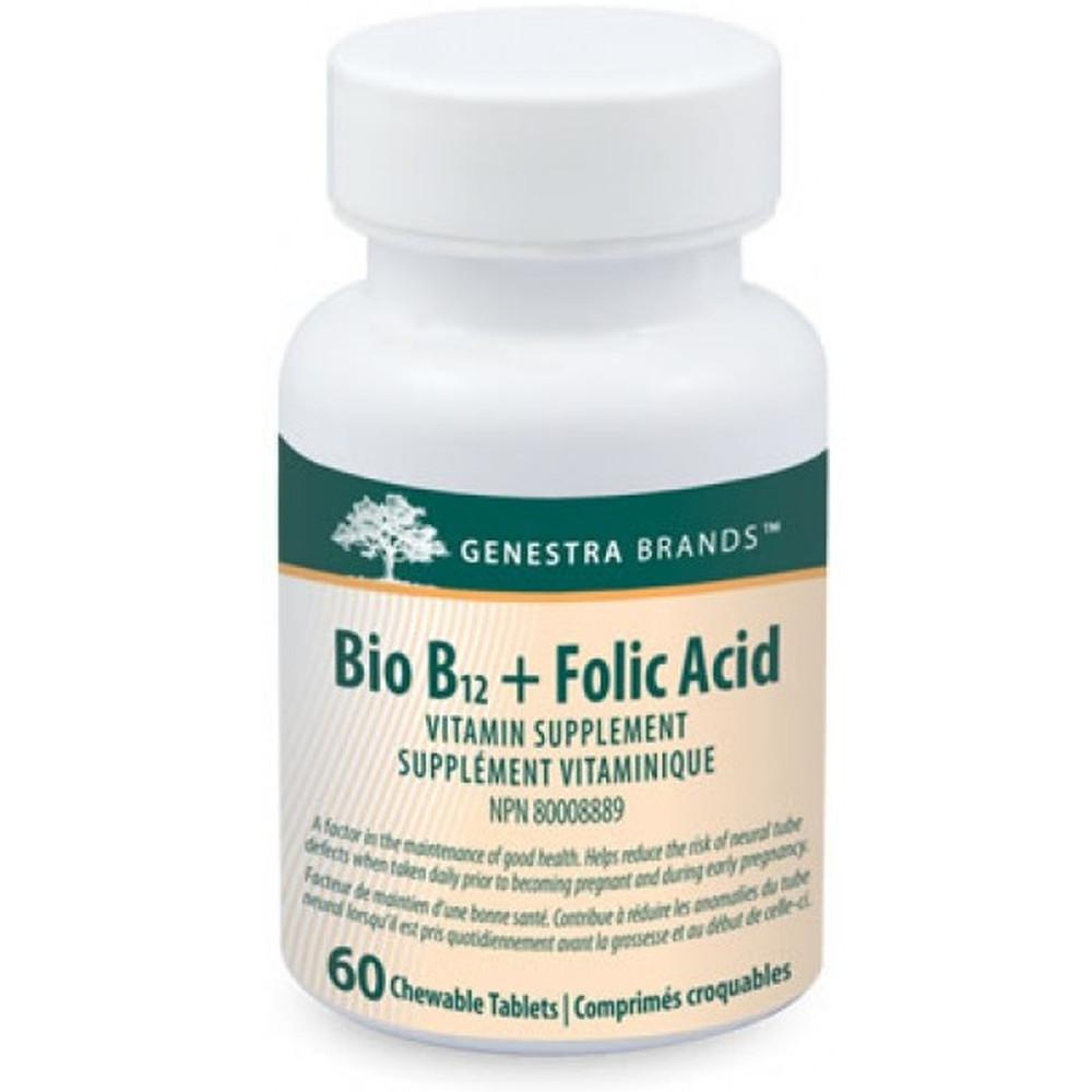GENESTRA BIO B12 + FOLIC ACID 60CHEWS