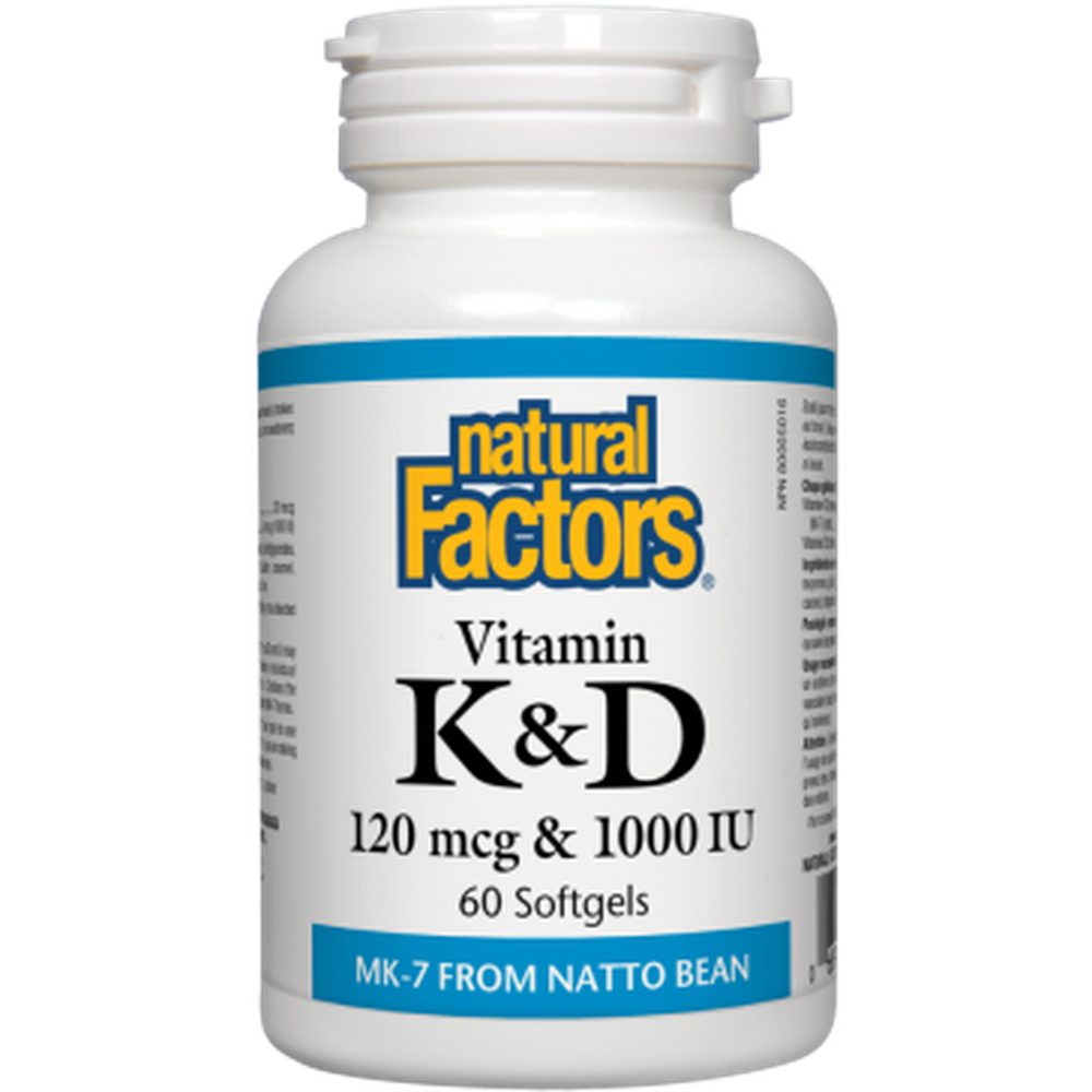 NATURAL FACTORS VITAMIN K & D 60SGS