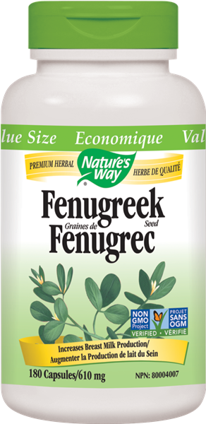 NATURE'S WAY FENUGREEK SEED 180VCAPS