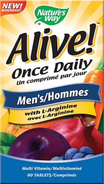 NATURE'S WAY MEN'S ALIVE ONCE DAILY 60TABS