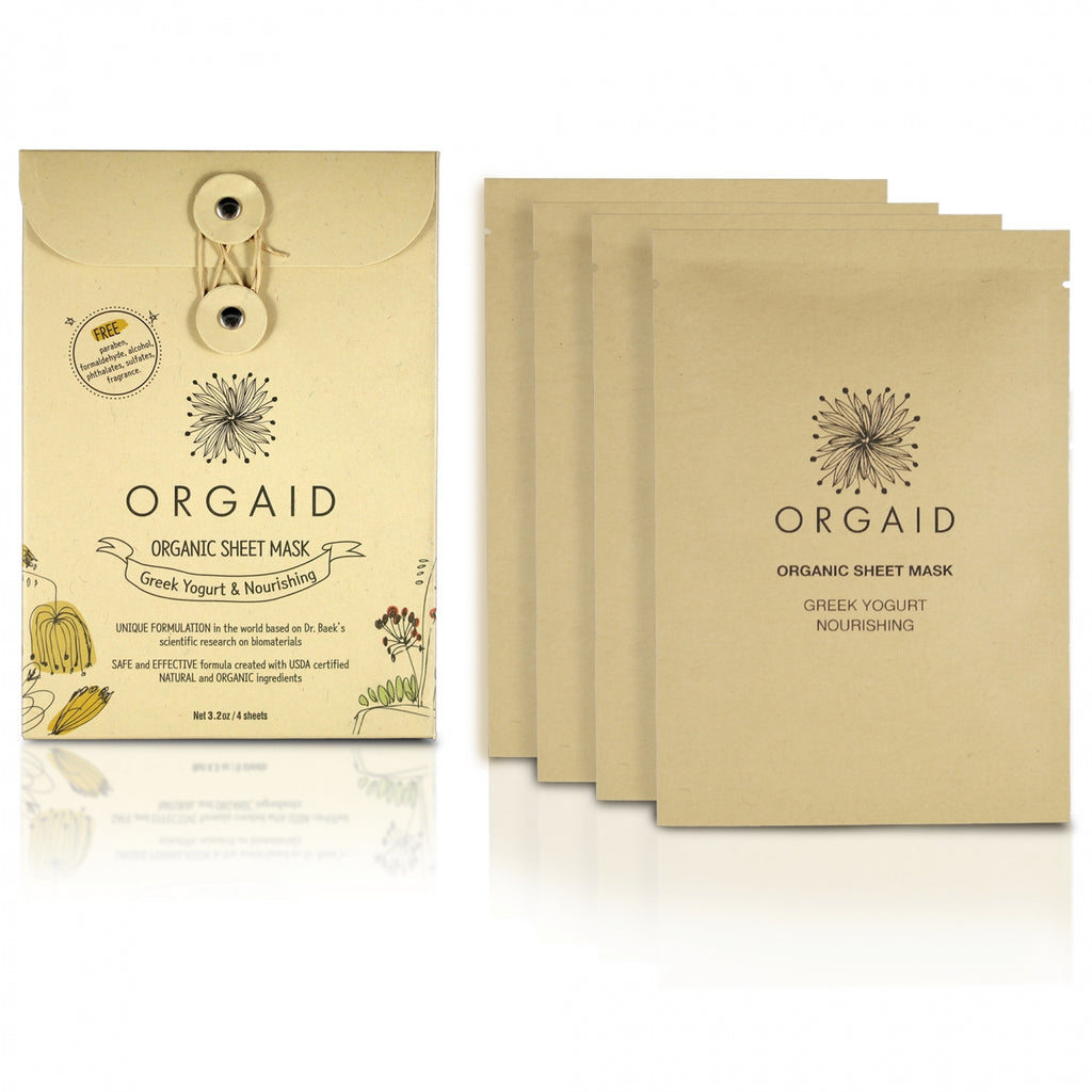 ORGAID GREEK YOGURT & NOURISHING ORGANIC SHEET 4PACK