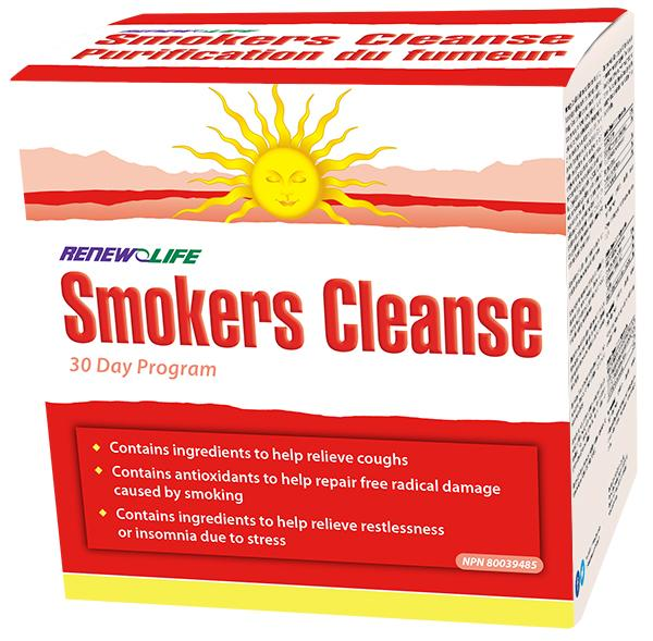 RENEW LIFE SMOKERS CLEANSE 30-DAY KIT
