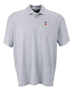 Mens TSC Burgee Mini-Gingham Performance Polo