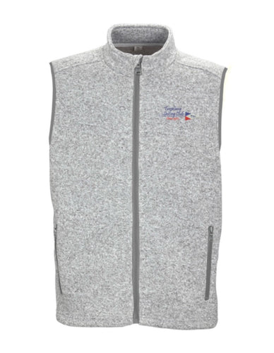 Mens Two Line Burgee Fleece Sweater Vest