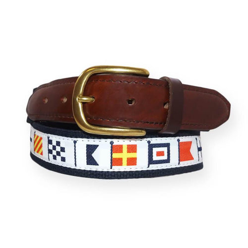 Code Flag Ribbon Belts