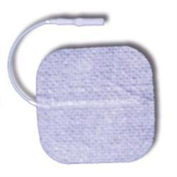 2 in. x 2 in. Square - White Fabric Top Electrodes Case of 10 (4/pack)