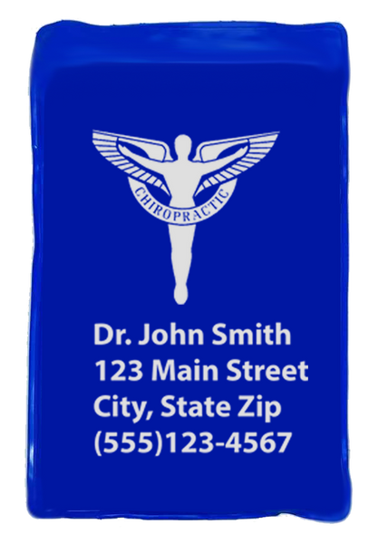 "Personalized 7"" x11"" Blue Vinyl Reusable Cold Pack"