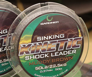 Gardner Kinetic Sinking Shock Leader 50lb 50m