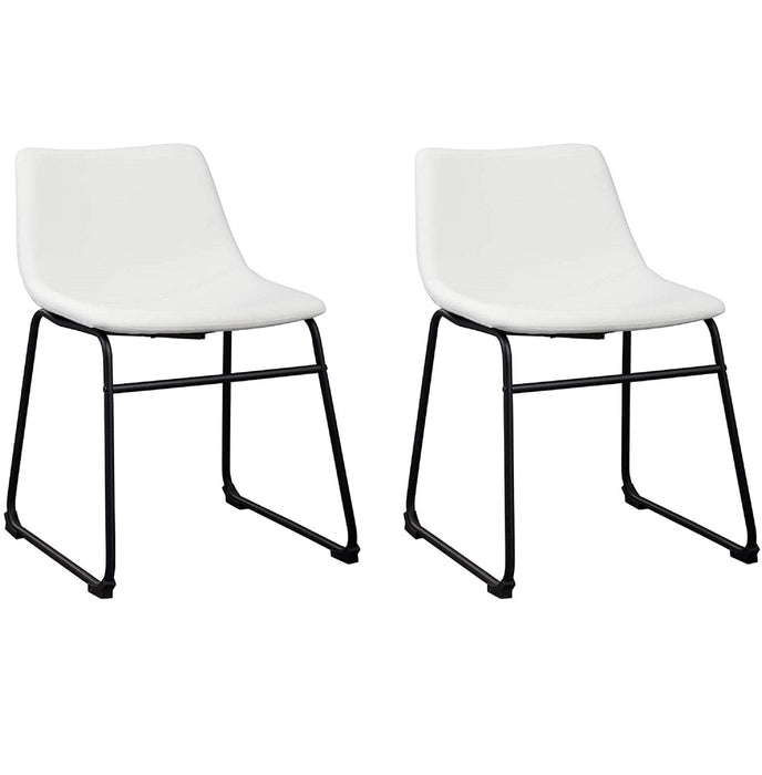 Aria Leatherette Dining Chair (Set of 2) (White)