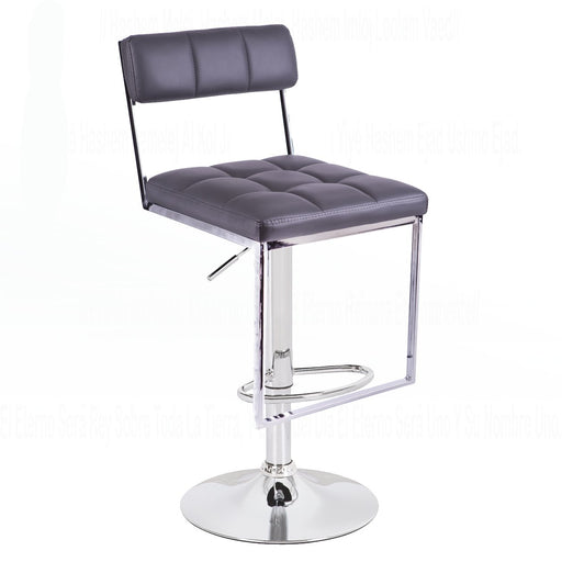 Leatherette Swivel Adjustable Height Bar Stool (Grey) BIC 10 30185 01