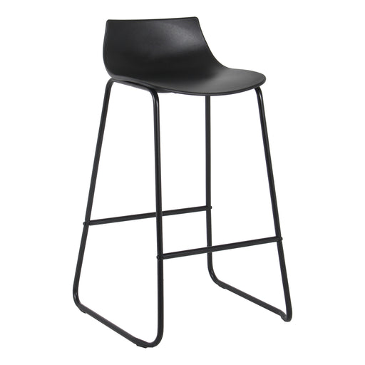 "Amelia 28"" Bar Stool with PP Seat (Black with Black Legs) - 1 Unit"