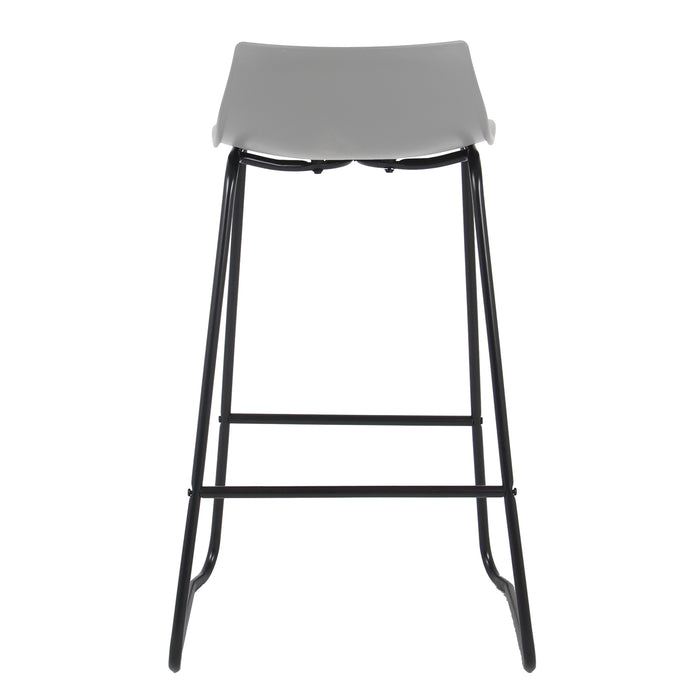 "Amelia 28"" Bar Stool with PP Seat (Gray with Black Legs) - 1 Unit"