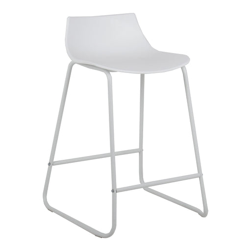 "Amelia 24"" Counter Stool (White with White Legs) - 1 Unit"