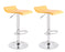 Miranda Swivel Adjustable Height Bar Stool (Yellow) - Set of 2
