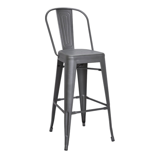 "Bistro Style Metal Bar Stool 30"" in Gun Metal Finish  ( SKU: BIC-10-70130-30 )"