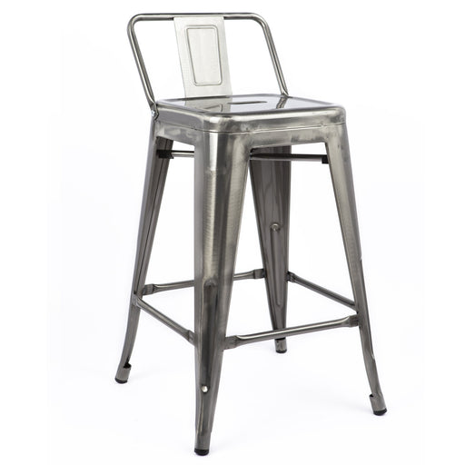 "Metal Bar Stool 30"" in Raw Metal Finish ( SKU: BIC-10-70150-13 )"