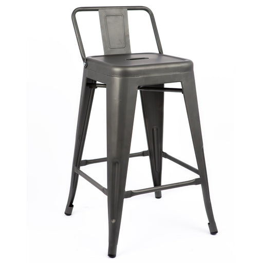 "Metal Bar Stool 30"" in Gun Metal Finish ( SKU: BIC-10-70150-30 )"