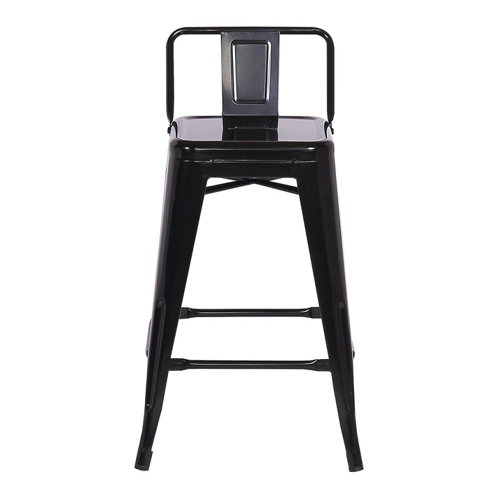 "Metal Counter Stool 24"" in Black Metal Finish ( SKU: BIC-10-70550-01 )"
