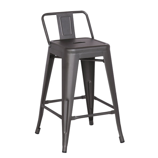 "Metal Counter Stool 24"" in Gun Metal Finish ( SKU: BIC-10-70550-30 )"