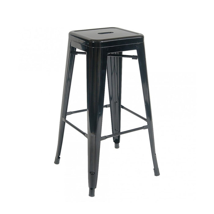 "Backless Bistro Style Metal Bar Stool 30"" in Black Finish ( SKU: BIC-10-72002-01 )"