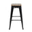 "Bistro Style Metal Bar Stool 30"" in Black Finish with Zebra Wood Seat ( SKU: BIC-10-72102-01-1403 )"