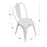 "Bistro Style Metal Chair 18"" in White Finish  ( SKU: BIC-10-90120-08 )"