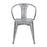 Bistro Style Metal Chair in Polished Gun Metal ( SKU: BIC-10-90125-13 )