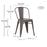 Caleb Metal Dining Chairs Tolix Style with Mid-Backrest - Antique Espresso - Set of 4