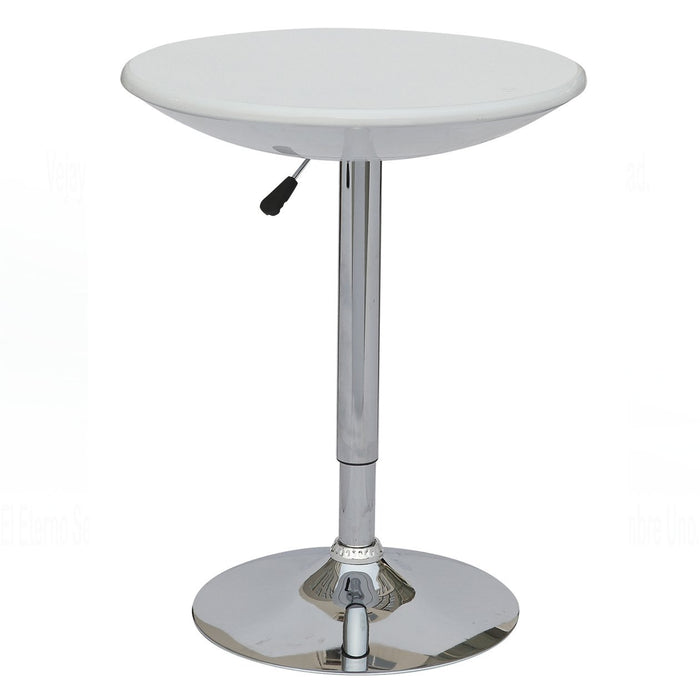 Adjustable Height Pub Table White BIC Bronte Import - Adjustable height cafe table
