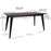 Liam Metal Dining Table with Wooden Top and Matte Black Legs