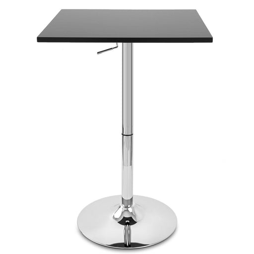 Costa Bar Table with Adjustable Height and Pedestal Base (Black) - 1 Unit