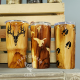 Hunting Wood Grain Tumbler